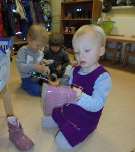 Schuhe putzen für den Nikolaus