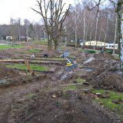 Bau Minigolfanlage im Waldbad 09.01.2018