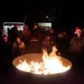 wärmen an der Feuerschale